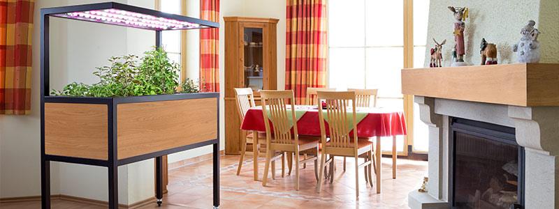 Vhodným bytovým doplňkem pro Vaši domácnost je interiérová zahrada Growlight. Umožní Vám pěstovat bylinky v kuchyni po celý rok nebo pěstovat rostliny v celém bytovém interiéru.