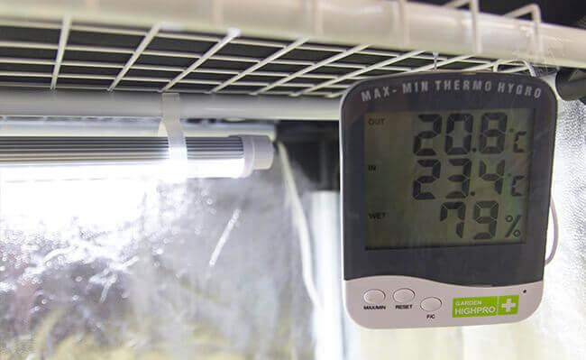 Měření teploty a vlhkosti při klíčení semínek pomocí digitálního teploměru