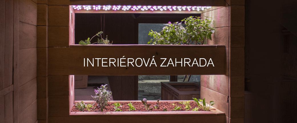Domácí i komerční interiérová zahrada pro pěstování zeleniny a bylinek