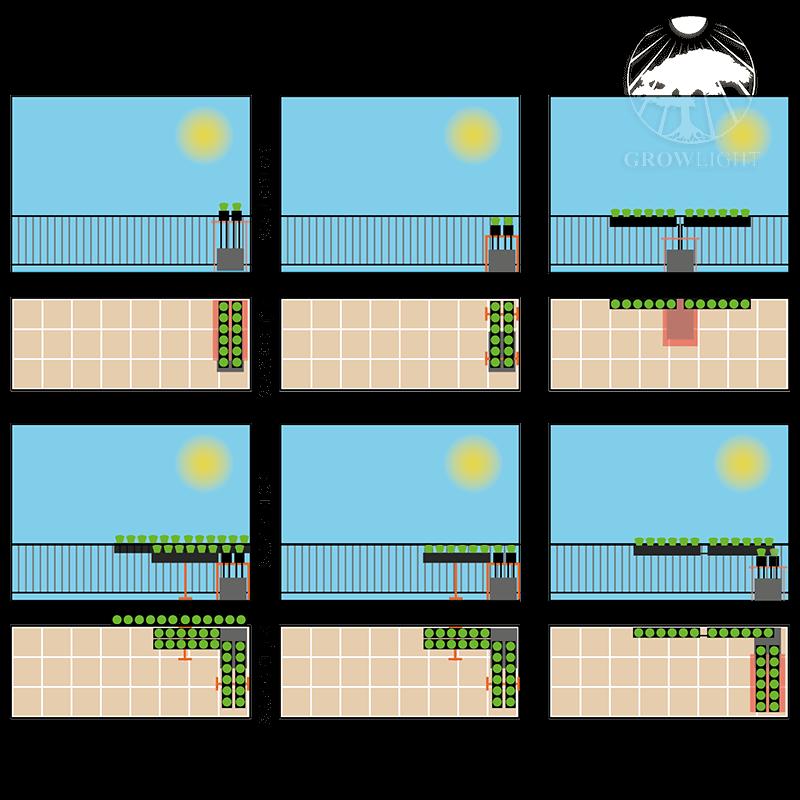 Konfigurace truhlíků při venkovní hydroponii pěstování zeleniny